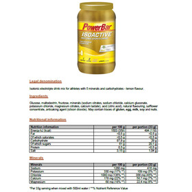 PowerBar Isoactive Isotonic Sports Drink Tub 1320g, Lemon